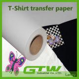 高品質PUのコーティングの層、容易な切断の100%年の綿のための暗いTシャツの転写紙