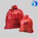 Мешок низкой плотности Biohazard пластичной изоляции заразный медицинский неныжный линейный