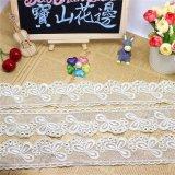 標準的な衣服化学ファブリック工場在庫の卸売5.5cmの幅の刺繍ファブリックネットの白いレースポリエステル刺繍のトリミングの空想の網のレース(BS1221)
