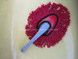 Balai d'amorçage de coton avec le traitement en plastique