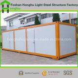Casa portable del envase de la cubierta de la casa modular de acero ligera conveniente en precio de fábrica