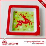Тарелка 100%, плита меламина рождества 8 дюймов круглая качества еды