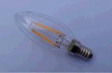 L'ampoule 1With1.5With3.5W de filament de lumière de bougie de DEL effacent/gels/ampoule chaude en verre d'or du blanc 90ra E12/E14/Ba15D/E27