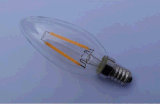 El bulbo 1With1.5With3.5W del filamento de la luz de la vela del LED borra/helada/bulbo caliente de cristal de oro del blanco 90ra E12/E14/Ba15D/E27
