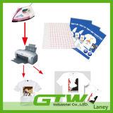 Couche de revêtement en PU de haute qualité, coupe facile T-shirt foncé T-shirt de transfert pour 100% coton
