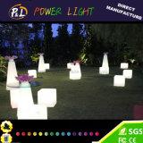 LED를 바꾸는 정원 가구 색깔은 입방체를 불이 켜진다