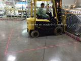 da luz vermelha da zona do Forklift 9-80V linha vermelha luz do laser
