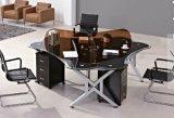 Premiers meubles de bureau en verre de poste de travail de Tableau de bureau d'Exeuctive (HX-GL046)