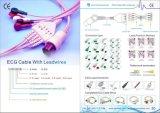 Cable de Heyer/Saadat ECG con los alambres de terminal de componente