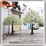 Горячее продавая цветение вишни белого венчания декоративное искусственное