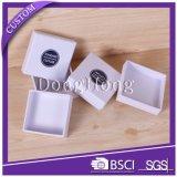 Подгонянные квадратные твердые коробки подарка с отделками текстуры