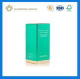 Коробка карточки подарка OEM напечатанная тавром косметическая упаковывая бумажная (с фольгой логоса золота)
