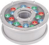 La fuente pura blanca caliente al aire libre de White/RGB LED se enciende bajo el agua