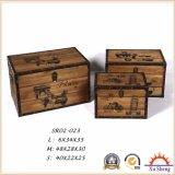 Коробка подарка Brown античной мебели декоративная деревенская естественная деревянная