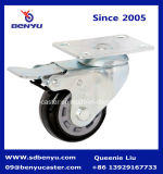쇼핑 카트를 위한 쌍둥이 브레이크를 가진 중간 의무 피마자 바퀴