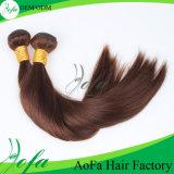 Seidiges weiches natürliches gerades wellenförmiges lockiges Webart Browm Haar