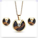 Bijou de bijou d'acier inoxydable d'accessoires de mode réglé (JS0226)