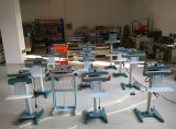 Sigillatore del pedale del corpo di macchina del metallo per il nylon del documento di vetro del Hm HDPE del LDPE LLDPE del PE pp, carta kraft Del di alluminio di BOPP
