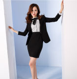 Feito a Measure Fashion Stylish Office Lady Formal Suit Fit magro Pencil Pants Pencil Skirt Suit L51612