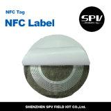 Pegamento Ntag216 ISO14443A del animal doméstico del Hf 13.56MHz de la escritura de la etiqueta de Nfc