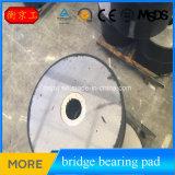 Rodamiento de goma del aislador de Jingtong (LRB), puente de la base del terminal de componente de caucho
