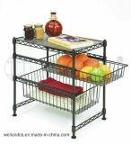 Kitchen 또는 Office (BK453045C3E)를 위한 DIY Chrome Metal Mini Wire Basket