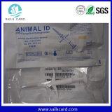 Inyector animal/jeringuilla de RFID con la etiqueta de cristal elegante del microchip