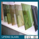 Baixo-e vidro isolado transparente ou cinzento liso/curvado
