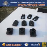 CNC подвергая черные алюминиевые части механической обработке камер