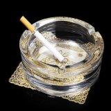 Cendrier en cristal en verre rond en gros de cigare pour la décoration à la maison