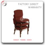 Chaise en chandelier empilable en métal gris en tissu blanc (JC-20)