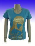 Les femmes célibataires de couleur d'O-Cou simple court-circuitent le T-shirt de douille