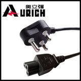 最もよい価格のインドのコンピュータの高品質の交流電力ケーブルの卸売によって使用されるコンピュータの電源コードのための標準220V電源コード