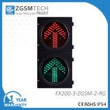 方向LEDトラフィックの薄赤の緑の矢Dia. 200mm 8インチ