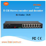 19inch 8 Channel XLR Broadcast Audio Optical Multiplexer