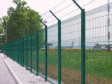 Panneau enduit de frontière de sécurité de PVC double pour le jardin et la route