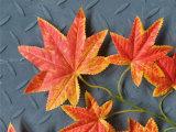 인공적인 잎 인공적인 플라스틱 단풍나무 잎