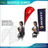 걷는 120GSM에 의하여 뜨개질을 하는 폴리에스테 깃발 책가방 광고 깃발 (J-NF04F06095)