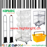 Equipamentos de supermercado Shopping Trolley and Gondola Shelving