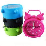 Mini horloge de Bell de jumeau d'horloge d'alarme de Chambre de décoration de silicones multicolores d'enfants