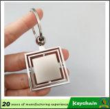 Вращанный Keyring металла круглый пустой с вашей конструкцией