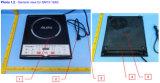 Stufa di vendita calda Sm15-16A3 di induzione di controllo del tasto del mercato elettrico degli apparecchi ETL 120V 1500W S.U.A.