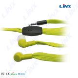 Los varios colores tejido el auricular impermeable del cordón