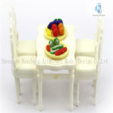 1: Four Chairs를 가진 25 오른 Plastic Model Square Lacy Table