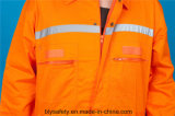Overtrek Workwear van de Veiligheid van de Koker van de Polyester 35%Cotton van 65% het Lange met Weerspiegelend (BLY1017)