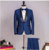 顧客用濃紺の人のスーツ、スーツ、方法と結婚している注文仕立ての人