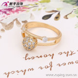 13534 Form Women Elegant Zircon 18k Gold-Plated Imitation Jewelry Finger Ring in Copper Alloy