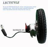 12.5 pulgadas de energía eléctrica de corriente continua sin escobillas Motor de silla de ruedas o motor de cubo de sillón con freno Electro Magentic