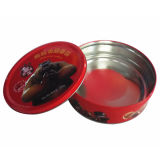 Round en gros Metal Biscuit Box pour Gift Wholesale