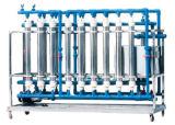 Ligne creuse de traitement des eaux de filtre de fibre